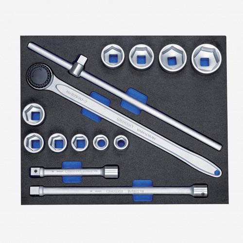 """Gedore 2005 CT3-32 Socket set 3/4"""" in 3/4 CT tool module, 14 pcs - KC Tool"""