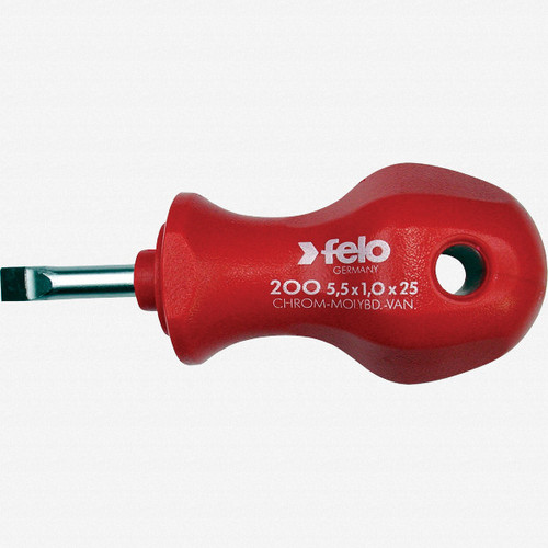 Felo 13045 6.5 x 25mm Slotted Stubby Screwdriver - KC Tool
