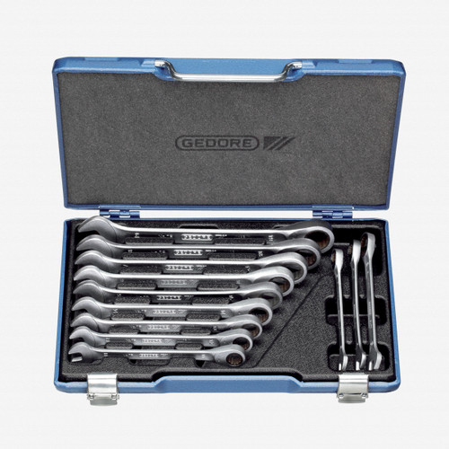 Gedore 7 R-012 Combination ratchet spanner set 12 pcs 8-19 mm - KC Tool