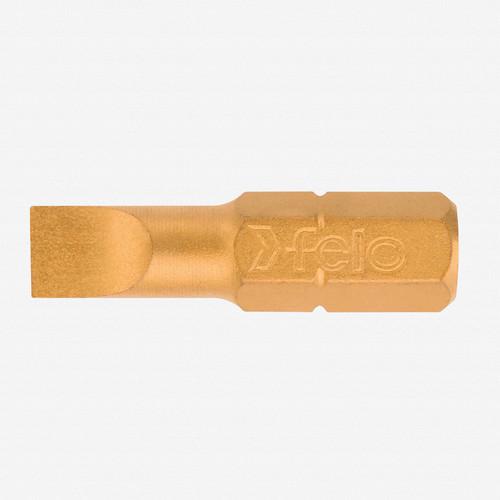 Felo 30916 6.5 x 25mm Slotted TiN Bit - KC Tool