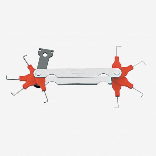 Gedore 705 M Spark plug gauge 0.4 - 1.0mm - KC Tool
