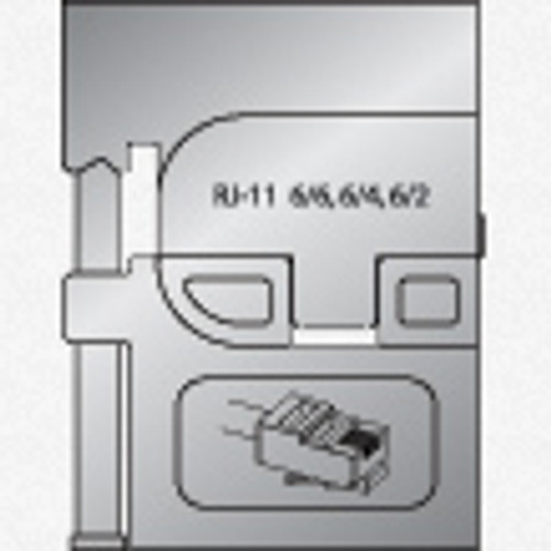 Gedore 8140-17 Module insert for modular plugs RJ 11 - KC Tool