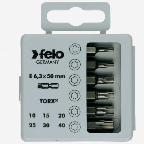 "Felo 31419 Profi Bit Box 6 Bits x 2"" - Torx - KC Tool"