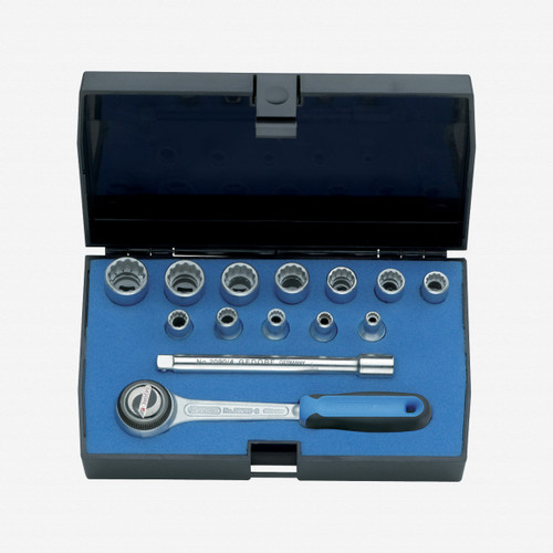 "Gedore D 20 DMU-3 Socket set 1/4"" 13 pcs UD 4-13 mm - KC Tool"