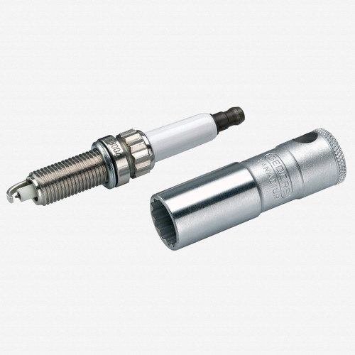 """Gedore D 55 Spark plug socket with retention spring 14 mm 3/8"""" - KC Tool"""