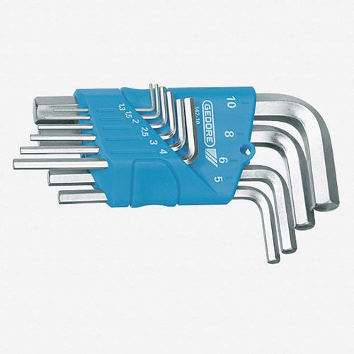 Gedore H 42-10 Hexagon Allen key set in holder 10 pcs 1.3-10 mm - KC Tool
