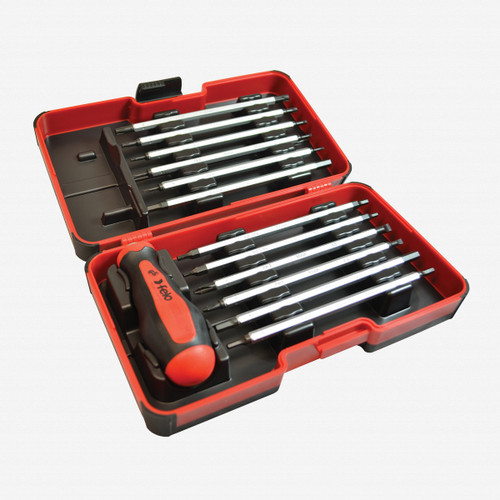 Felo 50630 13 Piece Inch Smart Box - Slotted, Phillips, Hex, Torx Tip Blades with Handle - KC Tool