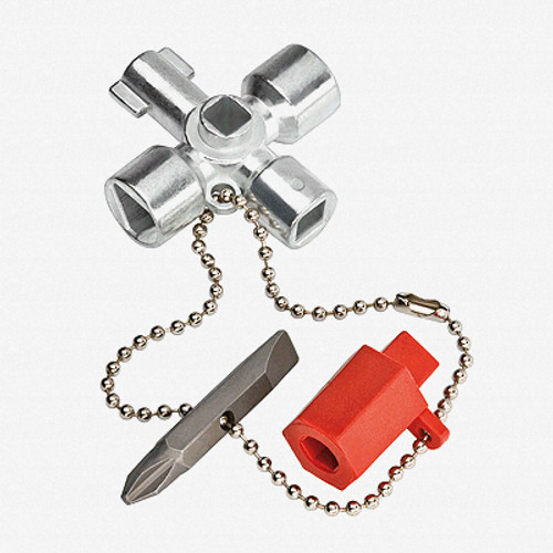 Knipex 00-11-02 Short Control Cabinet Key for all standard cabinets and shut-off systems - KC Tool