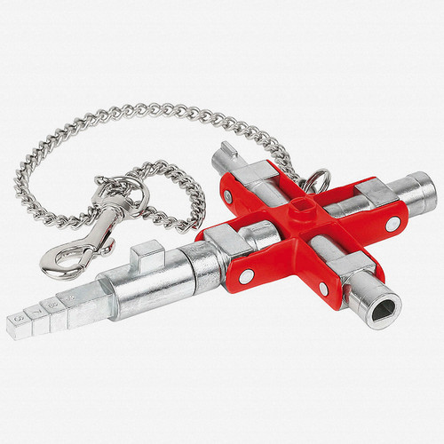 """Knipex 00-11-06-V01 Universal Key """"Construction"""" for all standard cabinets and shut-off systems - KC Tool"""