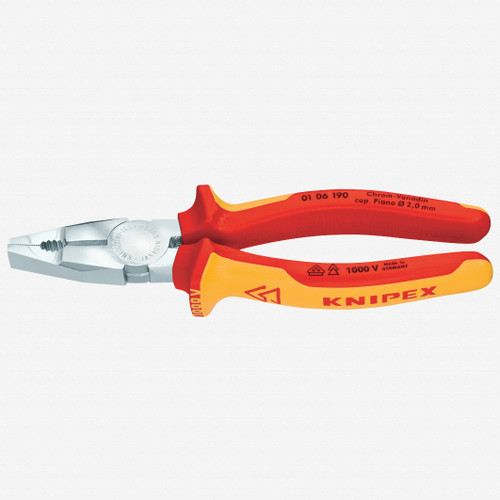 """Knipex 01-06-160 6.25"""" Combination Pliers - Insulated - KC Tool"""