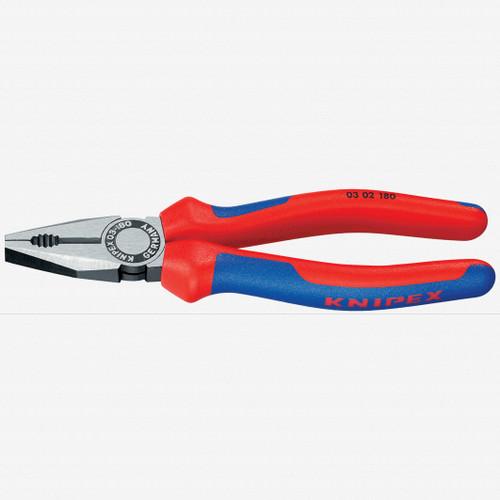 "Knipex 03-02-180 7"" Combination Pliers - MultiGrip - KC Tool"