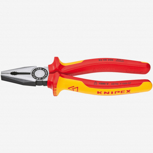 """Knipex 03-08-200 8"""" Combination Pliers - Insulated - KC Tool"""