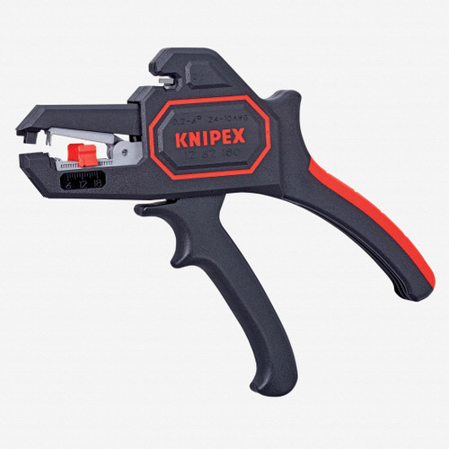 Knipex 12-62-180 Automatic Wire Insulation Stripper - AWG 24-10 - KC Tool