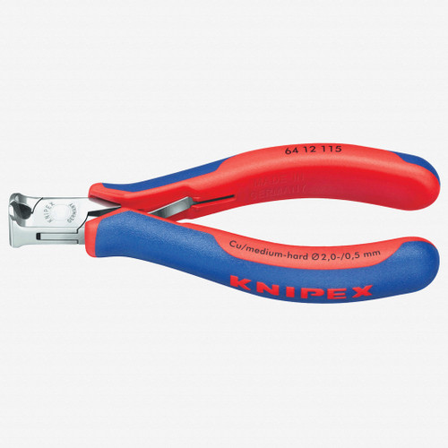 Knipex 64-12-115 Electronics End Cutting Nippers w/ Small Bevel - MultiGrip - KC Tool