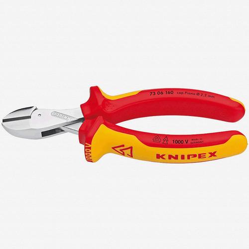 "Knipex 73-06-160 6.3"" X-Cut Diagonal Cutter - Insulated - KC Tool"