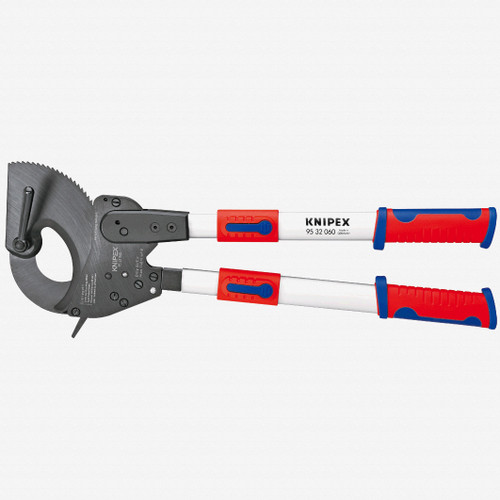 """Knipex 95-32-060 24.8"""" Cable Shears (ratchet action) with telescopic handles - KC Tool"""