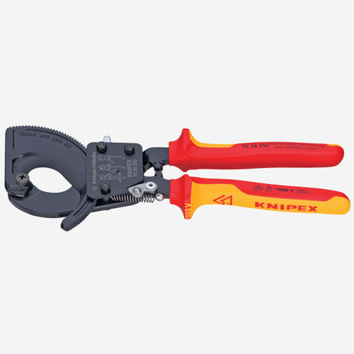 Knipex 95-36-250 Cable Cutters (ratchet action) - Insulated - KC Tool