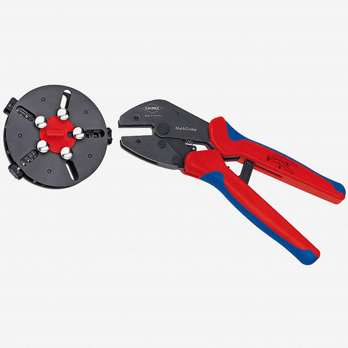 Knipex 97-33-01 MultiCrimp Pliers with Changer Magazine (3 Dies) - KC Tool