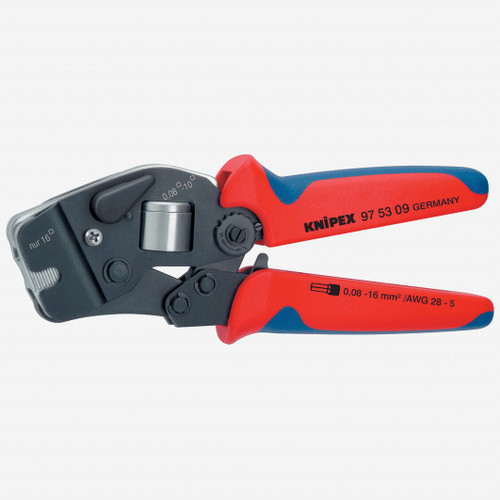 Knipex 97-53-09 Self-Adjusting Crimping Pliers - End Sleevs (ferrules) w/ Selector Lever - KC Tool