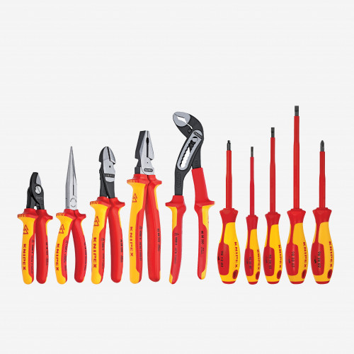 Knipex 9K-00-80-03-US 13 Piece Electricians Set in Tool Roll - Insulated (9K008003US)