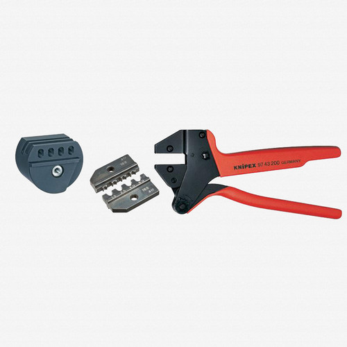 Knipex 9K-00-80-66-US Crimp System Pliers and Crimping Die - solar connectors Solarlok (Tyco) AWG 15-10 w/ Case and Locator - KC Tool
