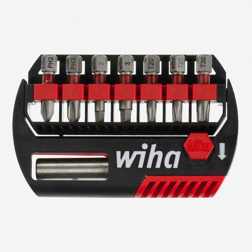 Wiha 76892 8 Piece Phillips Square Torx Bit Buddy Terminator Impact Power Bit Set - KC Tool