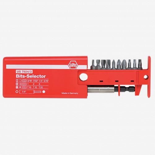 Wiha 79243 10 Piece Slotted/Phillips/Torx Bit Selector - KC Tool