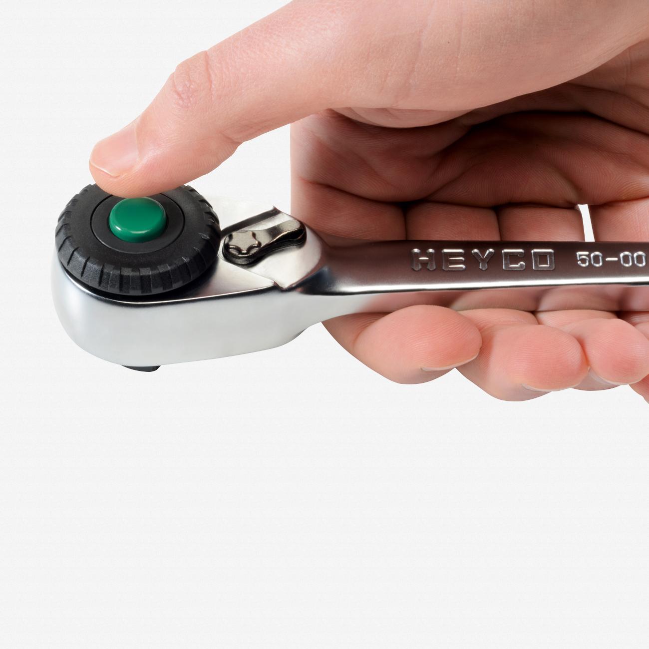 "Heyco 0500105 Varicat 72 Tooth Reversible Ratchet - 1/2"" Drive - KC Tool"