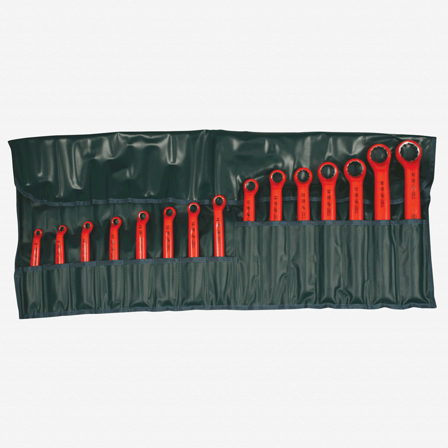Wiha 21094 15 Piece Insulated Deep Offset Wrench SAE Pouch Set - KC Tool