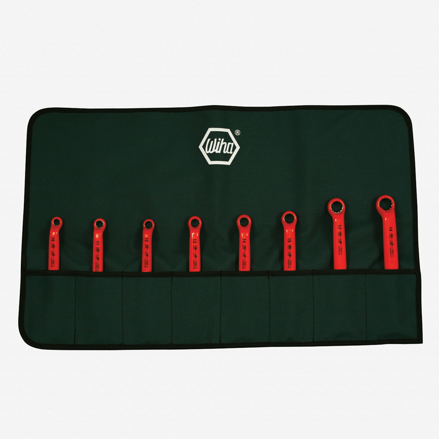 Wiha 21095 8 Piece Insulated Deep Offset Wrench Metric Pouch Set - KC Tool