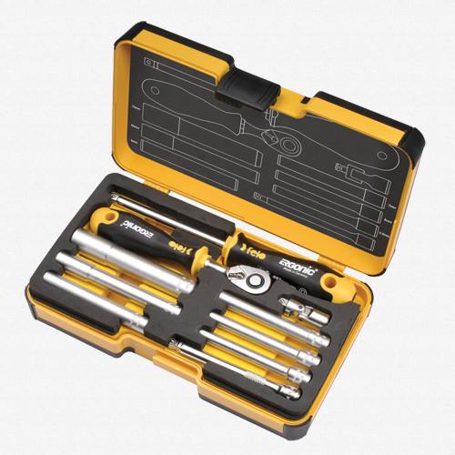 Felo 61553 Felo R-GO 10 M-Tec 10 piece Box Nut Drivers, Ergonic Ratchet - KC Tool