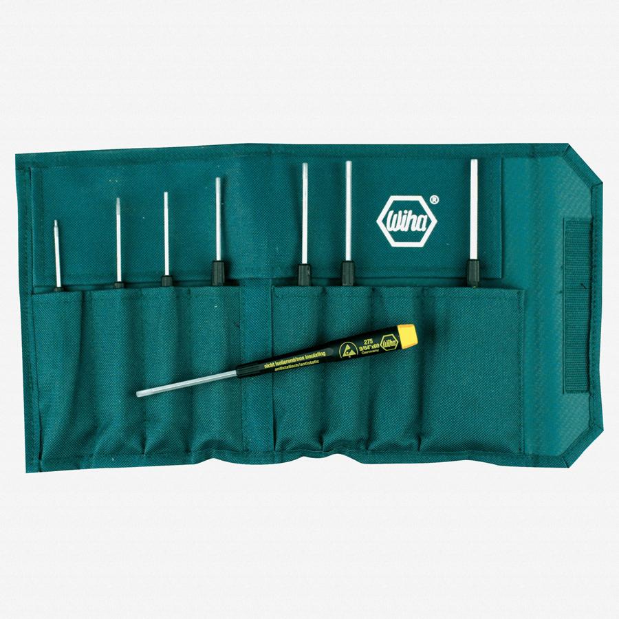 Wiha 27591 8 Piece Precision ESD Safe Hex SAE Pouch Set - KC Tool