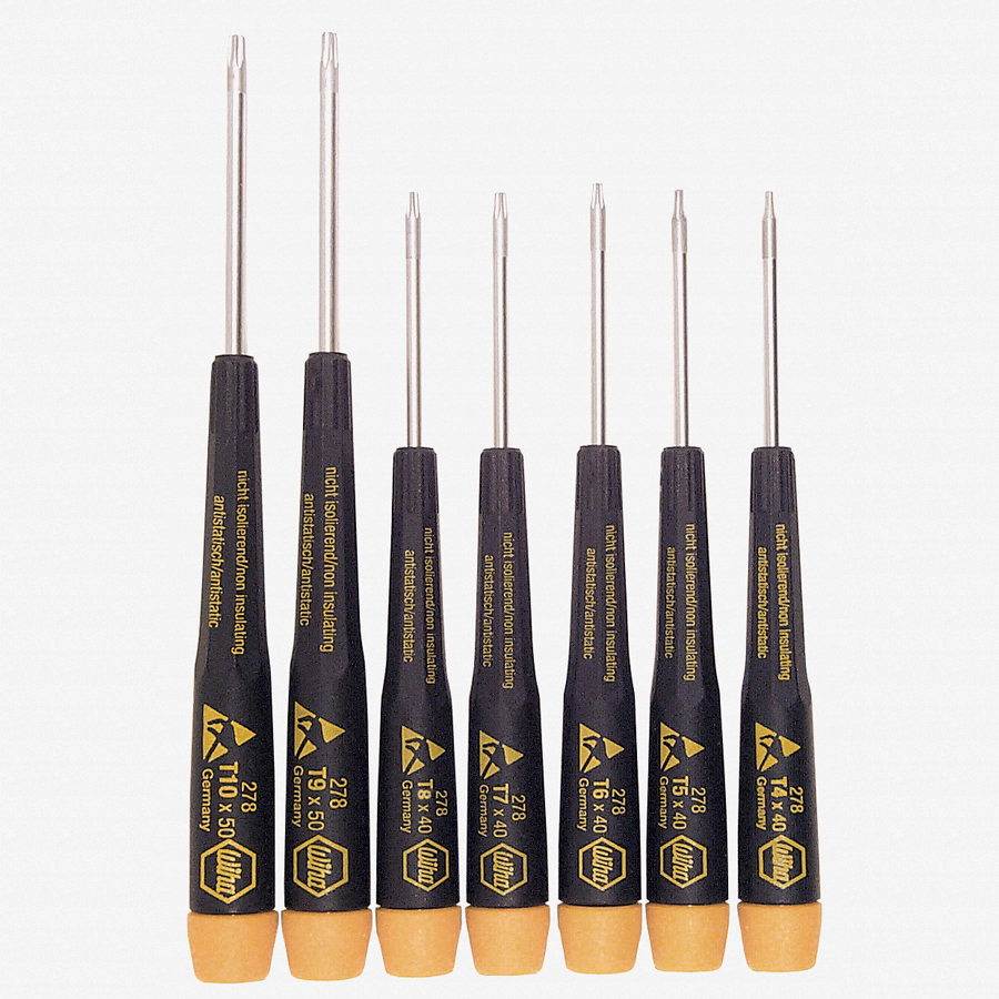 Wiha 27890 7 Piece Precision ESD Safe Torx Screwdriver Set - KC Tool