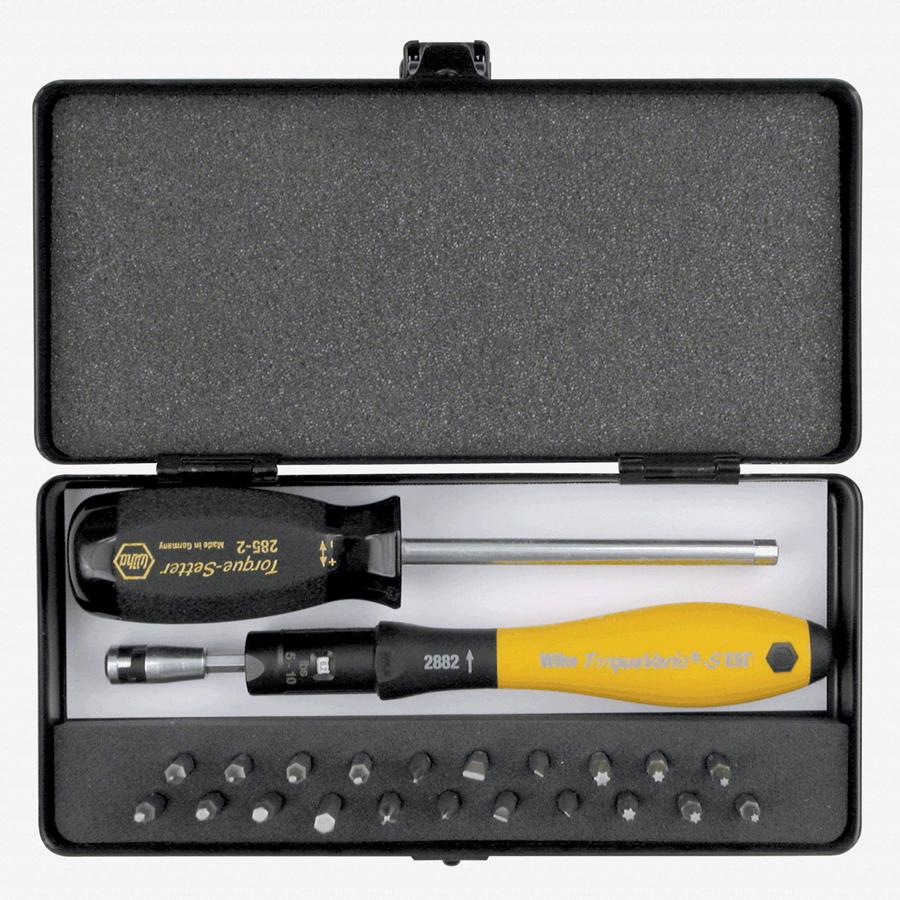 Wiha 28591 24 Piece ESD Torque ScrewDriver, Micro Bits and Handle Box Set 5-10 in-lbs. - KC Tool