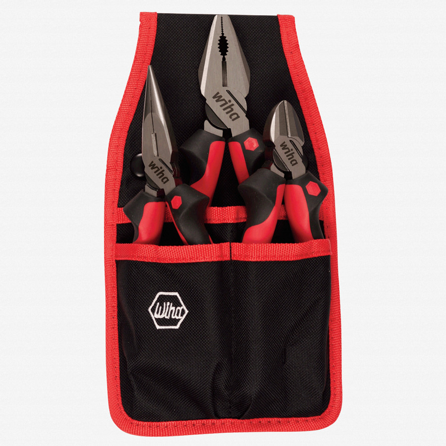 Wiha 30993 3 Piece Pliers/Cutter Set - Industrial SoftGrip - KC Tool