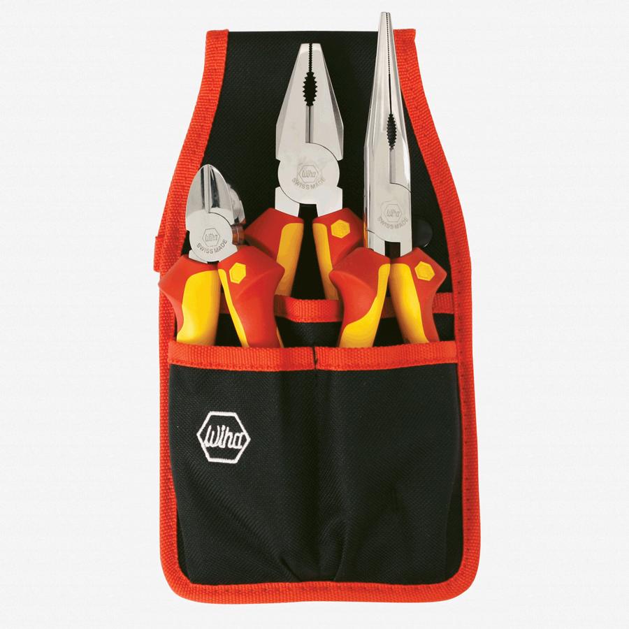 Wiha 32873 3 Piece Insulated Pliers/Cutters Belt Set - KC Tool