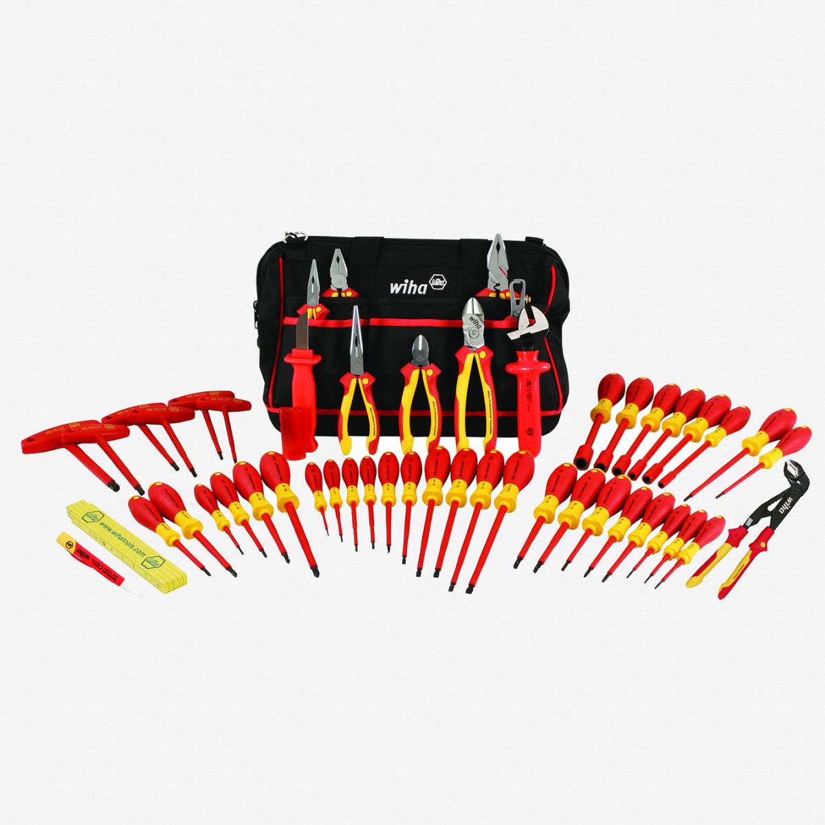 Wiha 32874 50 Piece Insulated Pliers and Screwdriver Tool Box - KC Tool