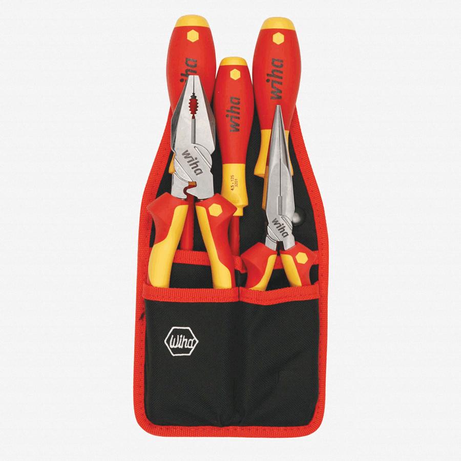 Wiha 32875 5 Piece Insulated Pliers/Driver Belt Set - KC Tool