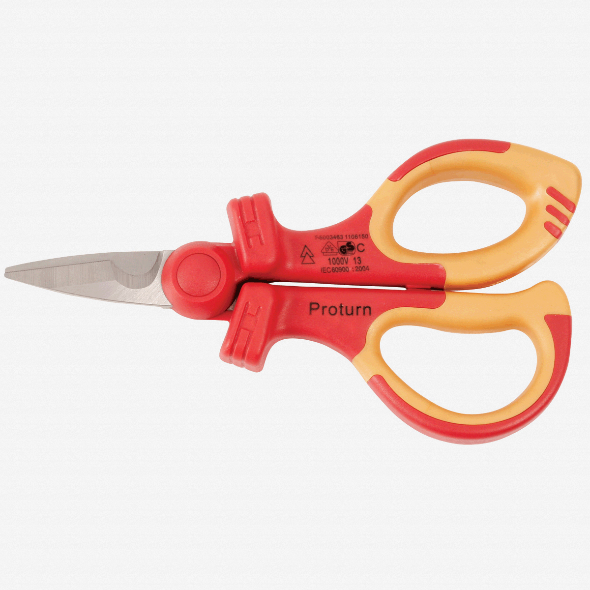 "Wiha 32951 6.3"" Industrial Electricians' Shears - Insulated - KC Tool"