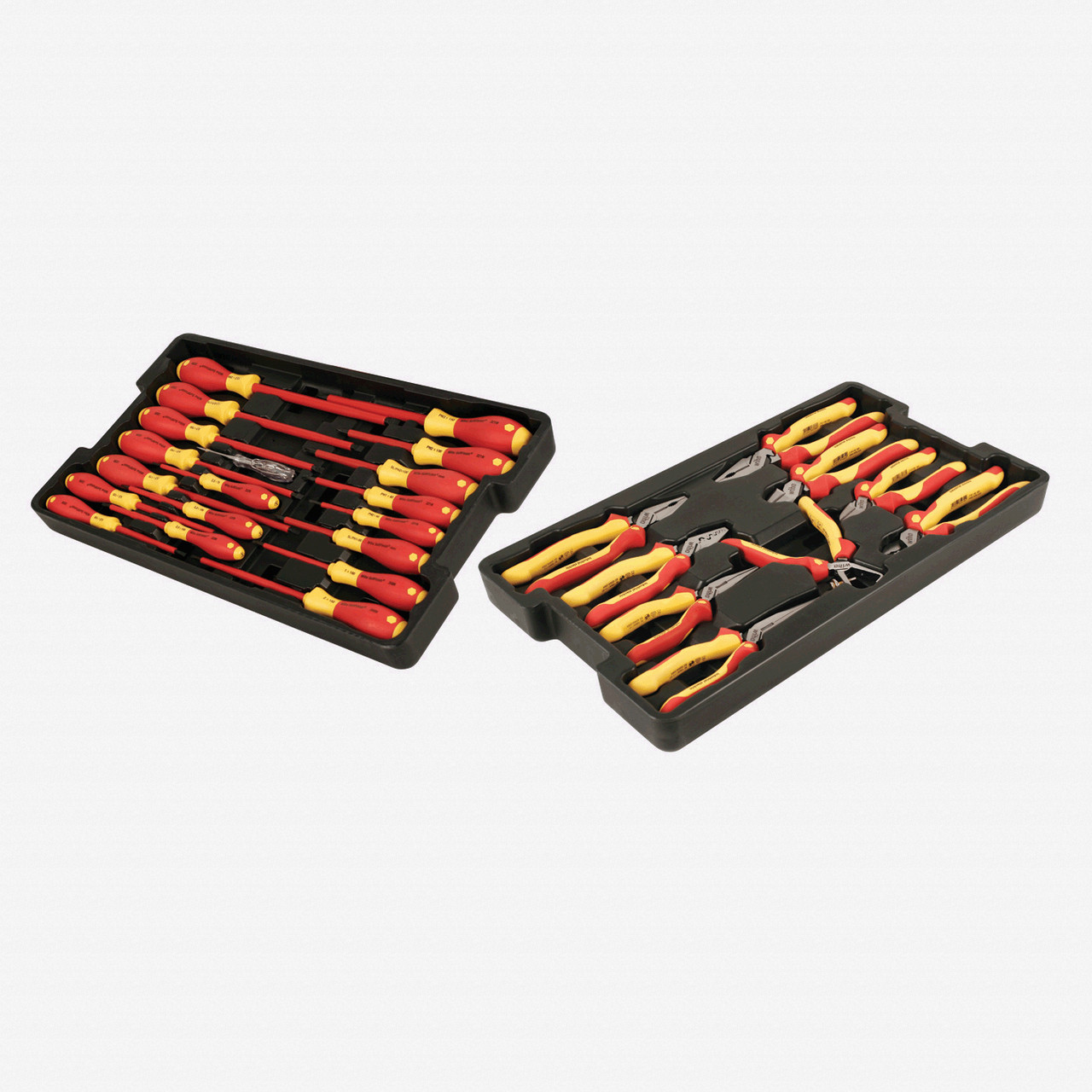 Wiha 32989 28 Piece Insulated Pliers/Cutters/Screwdrivers Tray Set - KC Tool