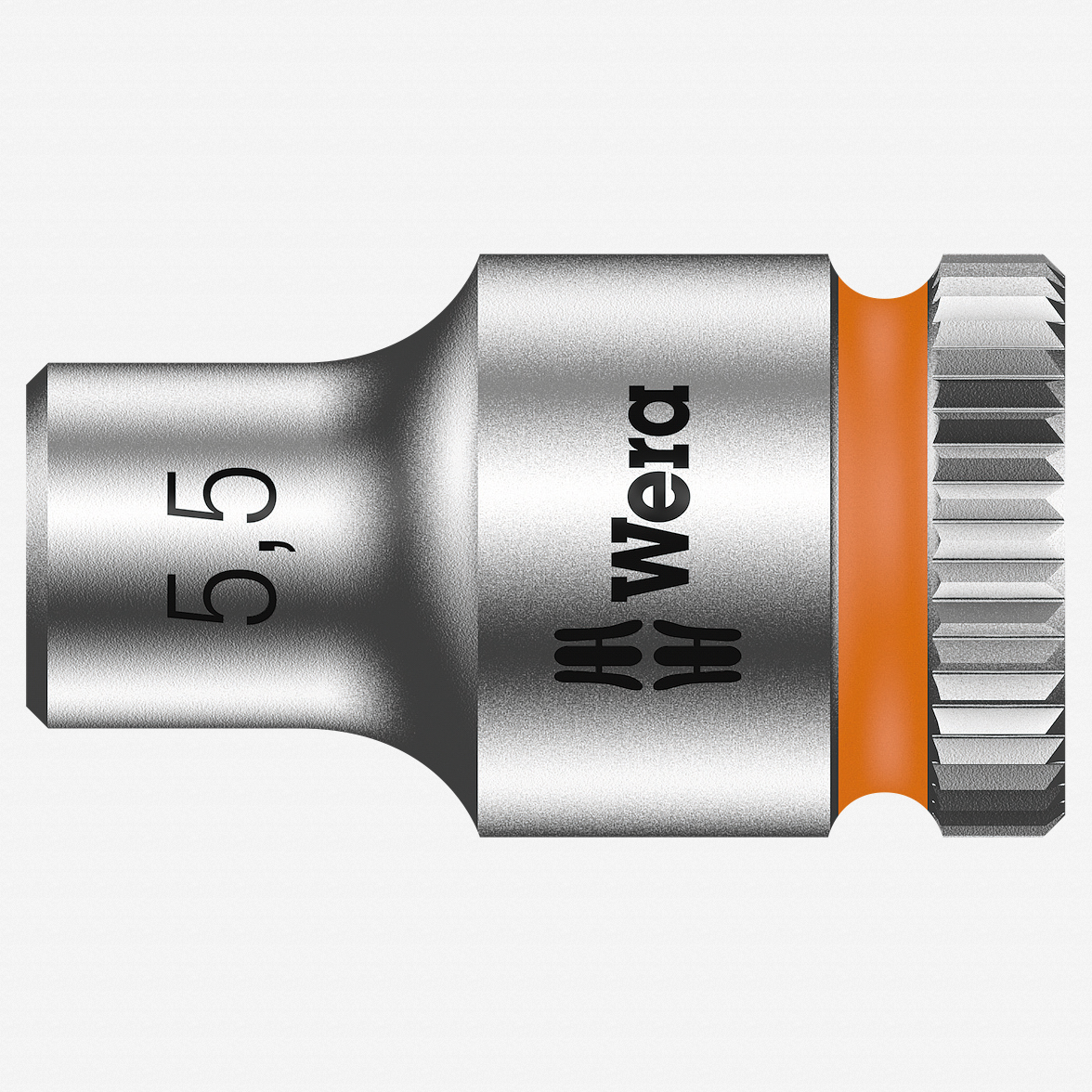 "Wera 003504 5.5 x 1/4"" Zyklop Socket - KC Tool"