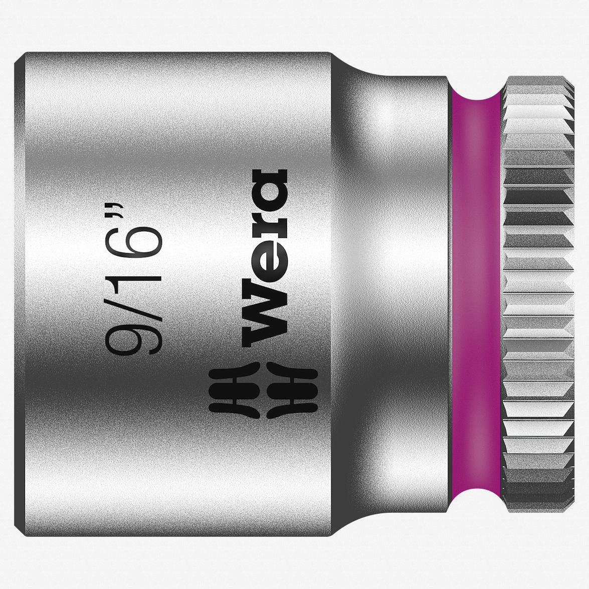 "Wera 003523 9/16"" x 1/4"" Zyklop Socket - KC Tool"
