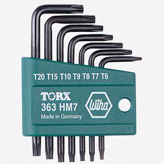 Wiha 36392 7 Piece Torx L-Key Set w/ Holder - KC Tool