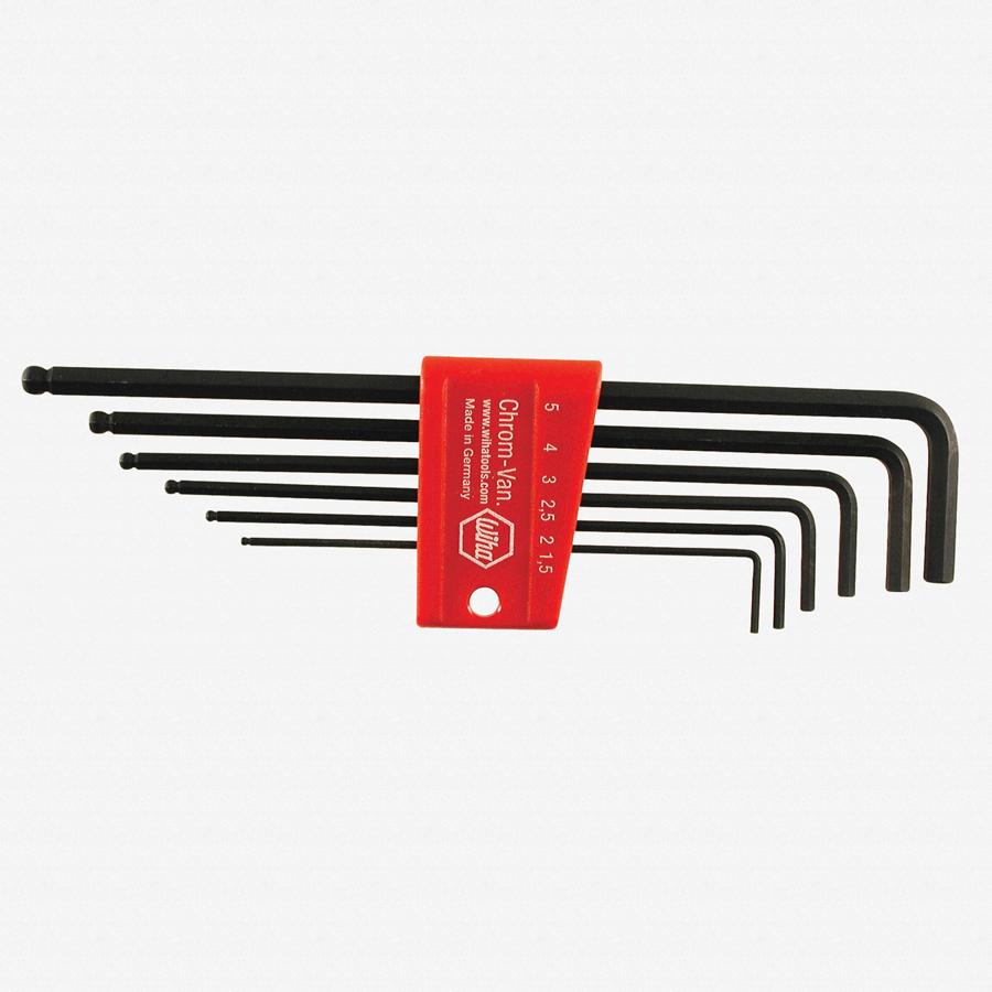 Wiha 36992 6 Piece Ball End Hex L-Key Metric Set - KC Tool