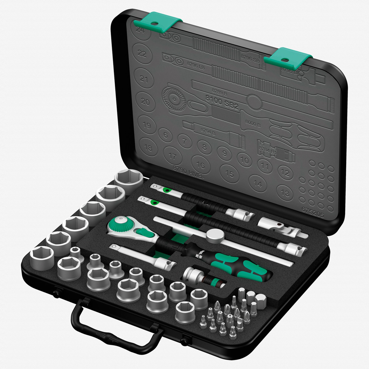 "Wera 003594 Zyklop Rachet Premium 3/8"" Drive Metric Set - KC Tool"