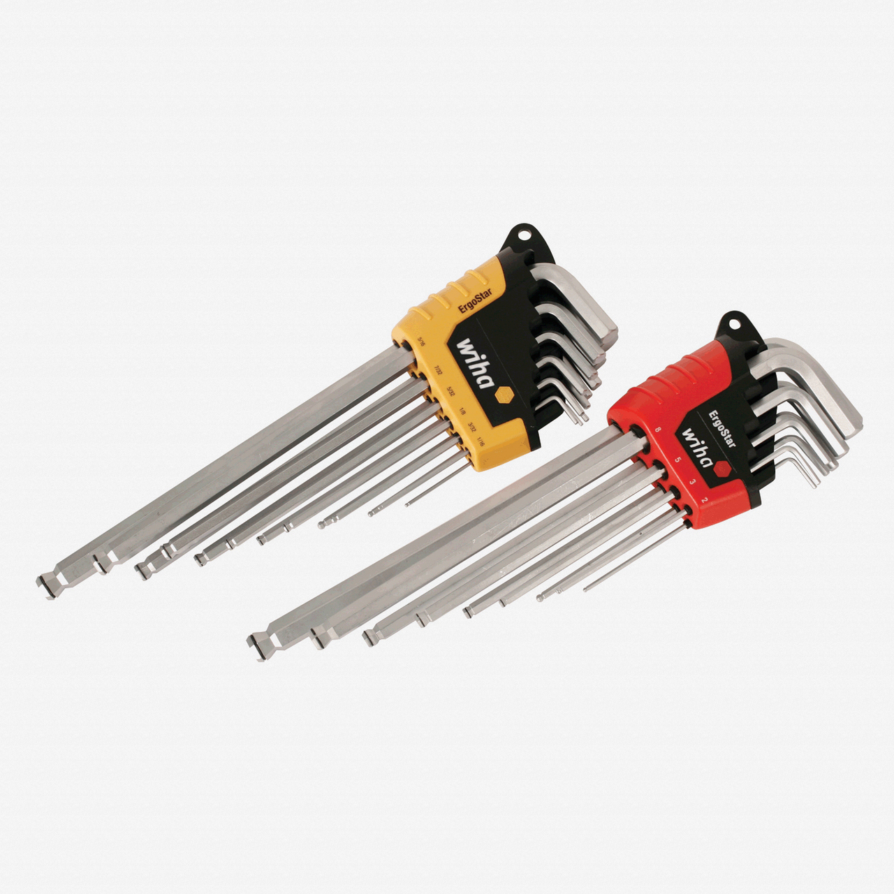 Wiha 66992 22 Piece ErgoStar MagicRing Ball End Hex L-Key Inch/Metric Set - KC Tool