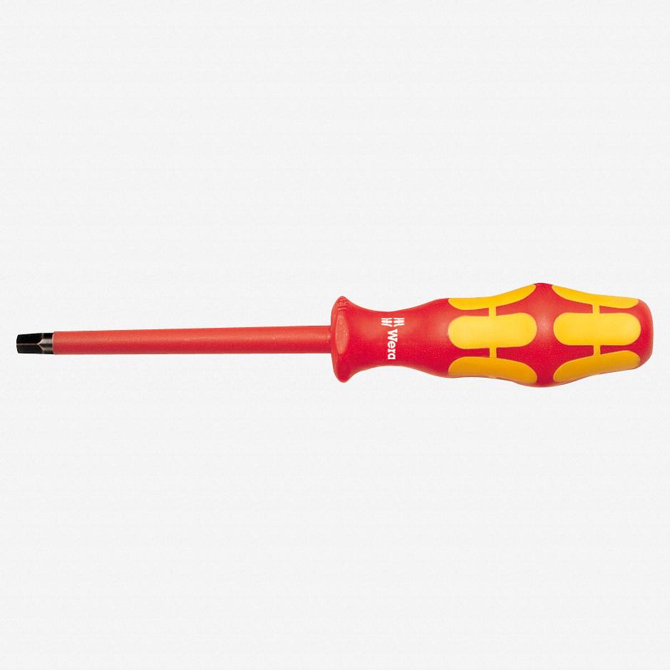 Wera 004784 #2 x 200mm VDE Insulated Square Screwdriver - KC Tool