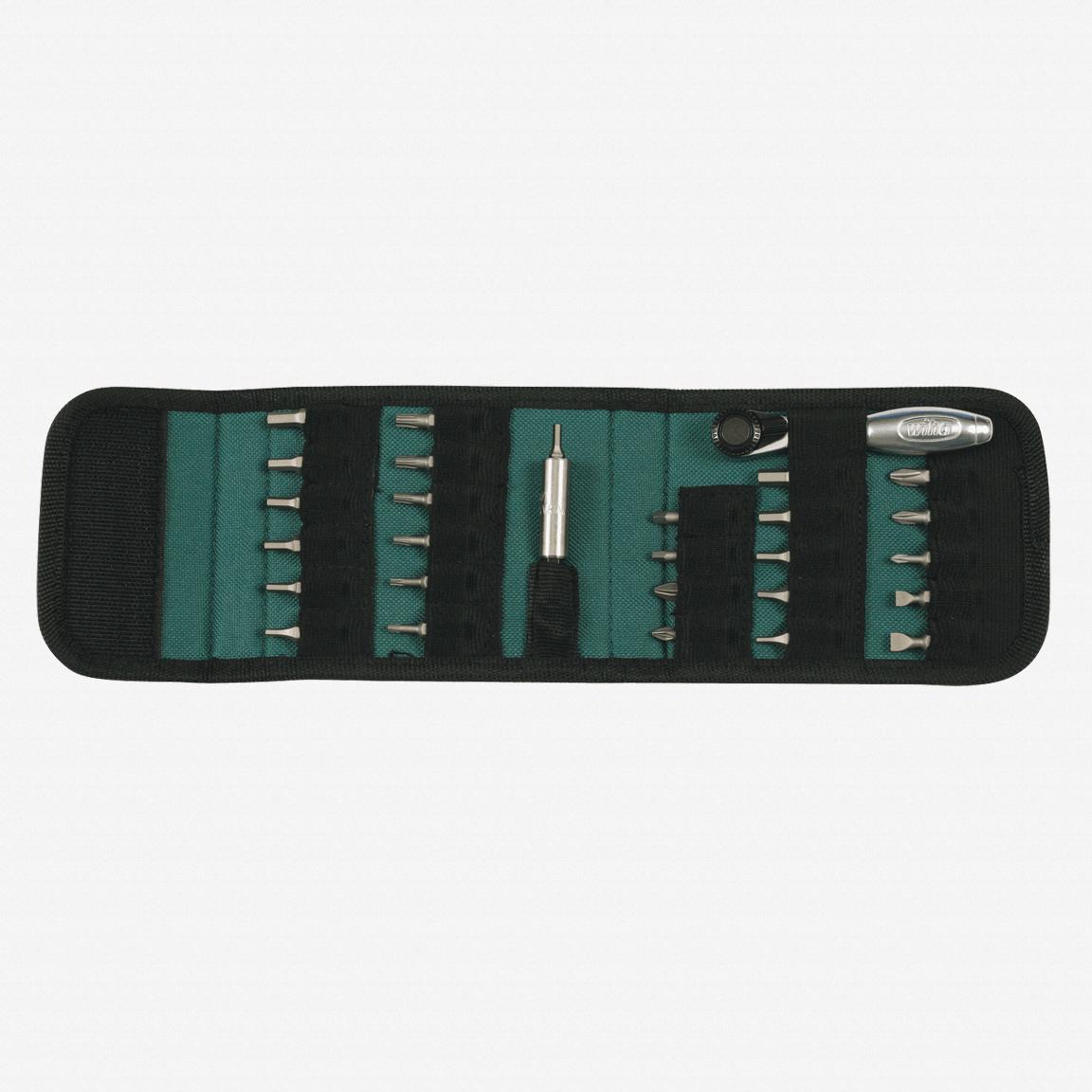 Wiha 74992 28 Piece Bit Ratchet Compact Pouch Set - KC Tool