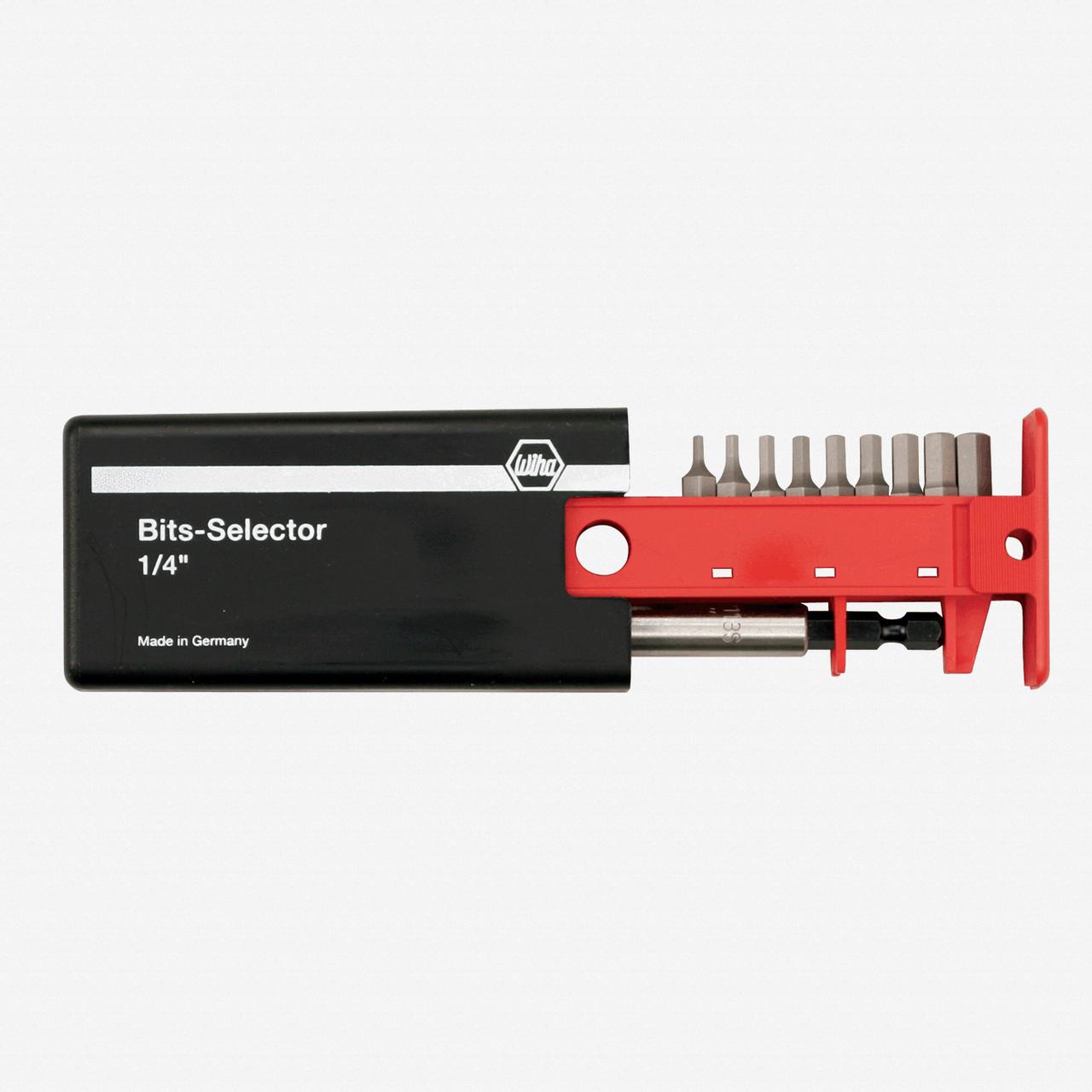 Wiha 79266 9 Piece Security Hex SAE Bit Selector - KC Tool