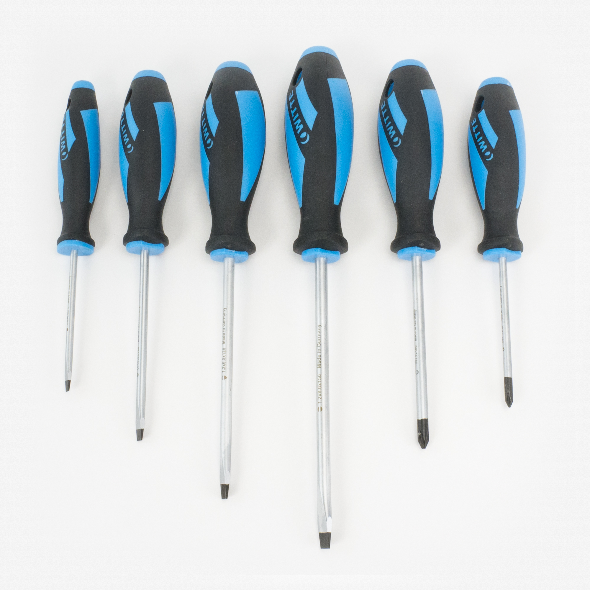 Witte 653864 6 Piece Maxxpro Slotted and Phillips Screwdriver Set - KC Tool